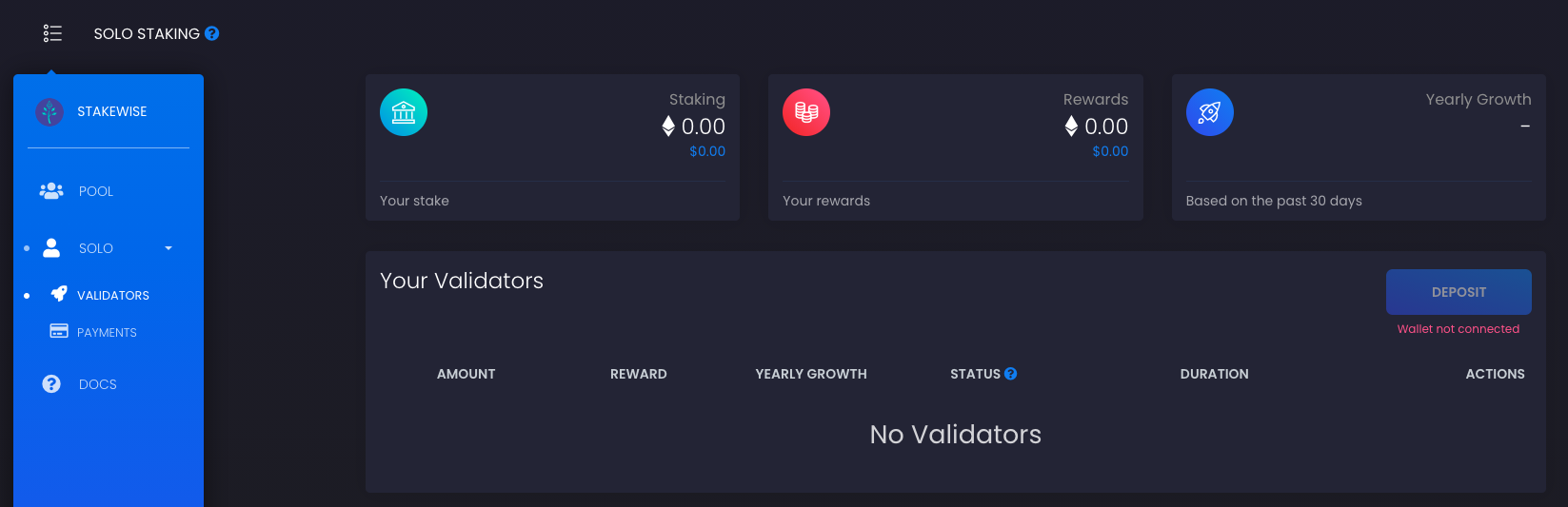Staking Ethereum StakeWise Solo Master Blockchain Online